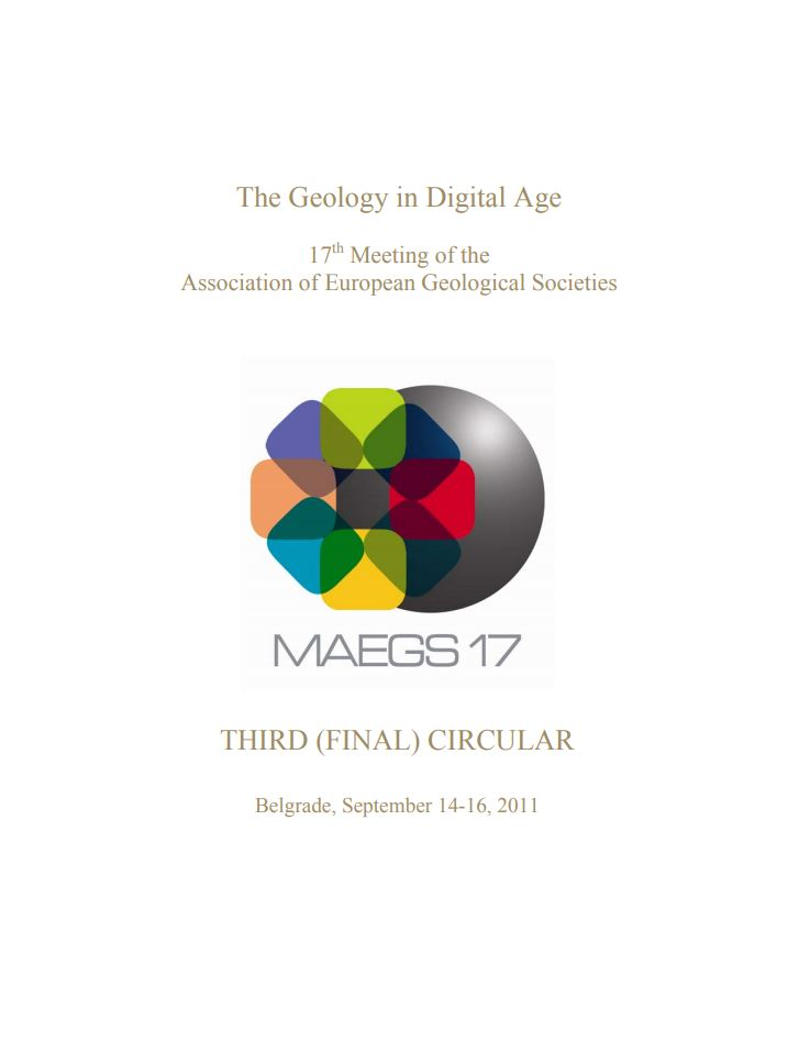 The geology in digital age : 17th Meeting of the Association of European Geological Societies : third (final) circular : [programme]