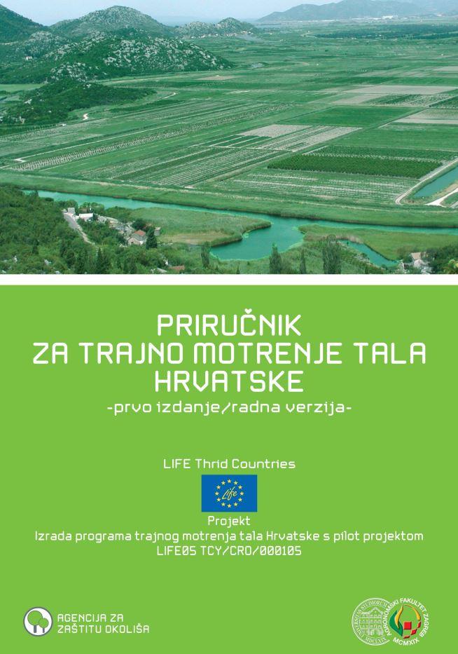 prikaz prve stranice dokumenta Priručnik za trajno motrenje tala Hrvatske. 1. izd., radna verzija