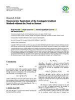 prikaz prve stranice dokumenta Nonrecursive equivalent of the conjugate gradient method without the need to restart
